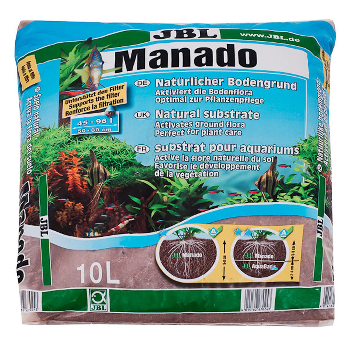 Питательный грунт JBL Manado, улучшающий качество воды и стимулирующий рост растений,цвет: красно-коричневый (латеритной почвы), 10 лJBL6702400JBL Manado 10l - Питательный грунт, улучшающий качество воды и стимулирующий рост растений, красно-коричневый (цвет латеритной почвы), 10 литров.
