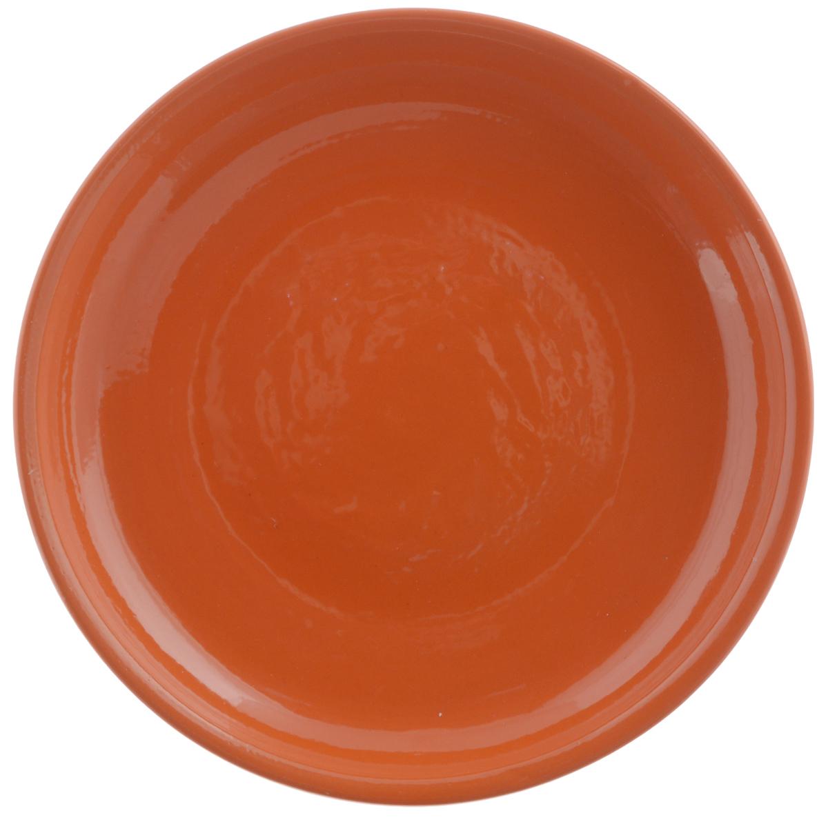 Тарелка Борисовская керамика Радуга, цвет: оранжевый, диаметр 18 смVT-1520(SR)Тарелка Борисовская керамика Радуга выполнена из высококачественной керамики. Изделие идеально подойдет для сервировки стола и станет отличным подарком к любому празднику. Можно использовать в духовке и микроволновой печи.