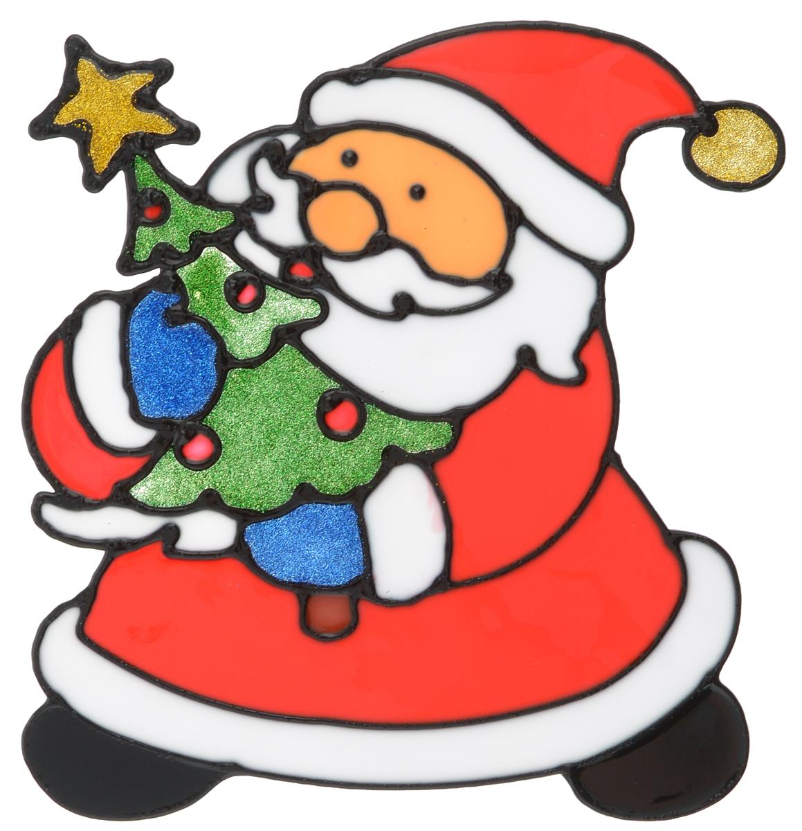 Наклейка на окно Erich Krause Дедушка Мороз, 16 х 15,5 смNLED-444-7W-BKНаклейка на окно Erich Krause Дедушка Мороз выполнена в виде Деда Мороза с елочкой.С помощью больших витражных наклеек на окно Erich Krause можно составлять на стекле целые зимние сюжеты, которые будут радовать глаз, и поднимать настроение в праздничные дни! Так же Вы можете преподнести этот сувенир в качестве мини-презента коллегам, близким и друзьям с пожеланиями счастливого Нового Года!Размер наклейки: 16 х 15,5 см