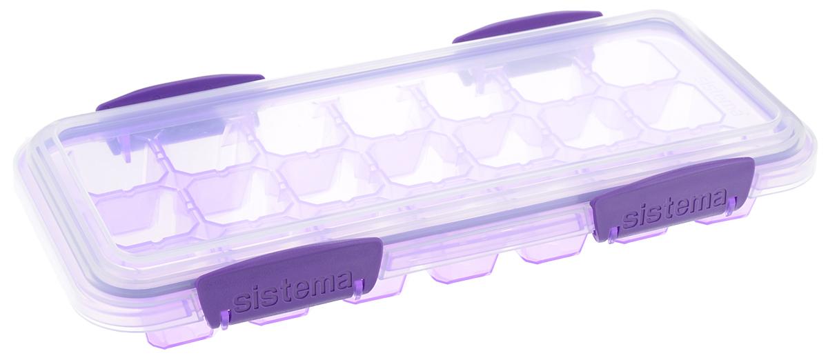 Контейнер для льда Sistema KLIP IT, большой, цвет: фиолетовый, 21 ячейка61448_фиолетовыйКонтейнер Sistema KLIP IT предназначен для приготовления 21 кубика льда. Крышка с силиконовой прокладкой герметично закрывается что помогает дольше сохранить полезные свойства продуктов. Контейнер надежно закрывается клипсами, которые при необходимости можно заменить. Размеры контейнера: 27,5 х 12,5 х 4,3 см.
