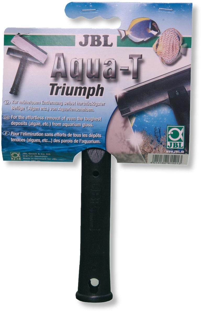 Стеклоочиститель JBL Aqua-T Triumph, длина 19 смJBL6152100Аквариумный стеклоочиститель JBL Aqua-T Triumph выполнен из пластика с лезвием из нержавеющей стали. Изделие подходит для чистки аквариумных стекол и оснащено резиновым скребком с внешней стороны. С помощью очистителя легко удалить застарелые отложения (водоросли). Лезвие стеклоочистителя просто и быстро заменяется. Может применяться в морском или пресноводном аквариуме. Стеклоочиститель разработан таким методом, что практически невозможно повредить силиконовую герметизацию аквариума. Силиконовую герметизацию от повреждения защищает расстояние лезвия от края ручки. Общая длина скребка: 19 см. Размер рабочей части: 15,5 х 5,5 см. Длина ручки: 14 см.