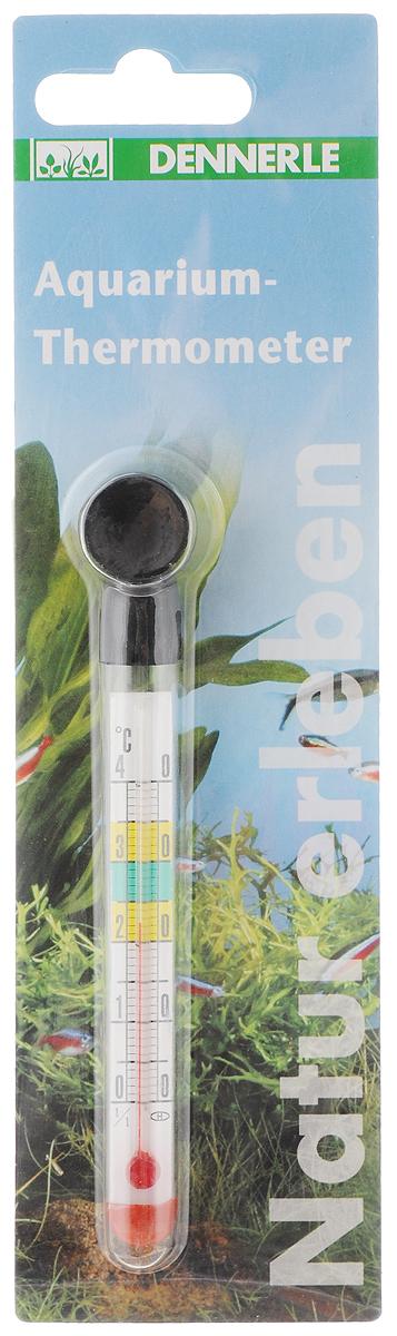 Термометр аквариумный Dennerle, длина 12,5 смDEN1410Термометр Dennerle предназначен для измерения температуры воды в аквариуме. Термометр крепится к стенке аквариума на ровную поверхность с помощью присоски. Удобная шкала, позволяет легко считывать показания. Измеряемая температура от 0°C до +40°C. Длина термометра: 12,5 см.