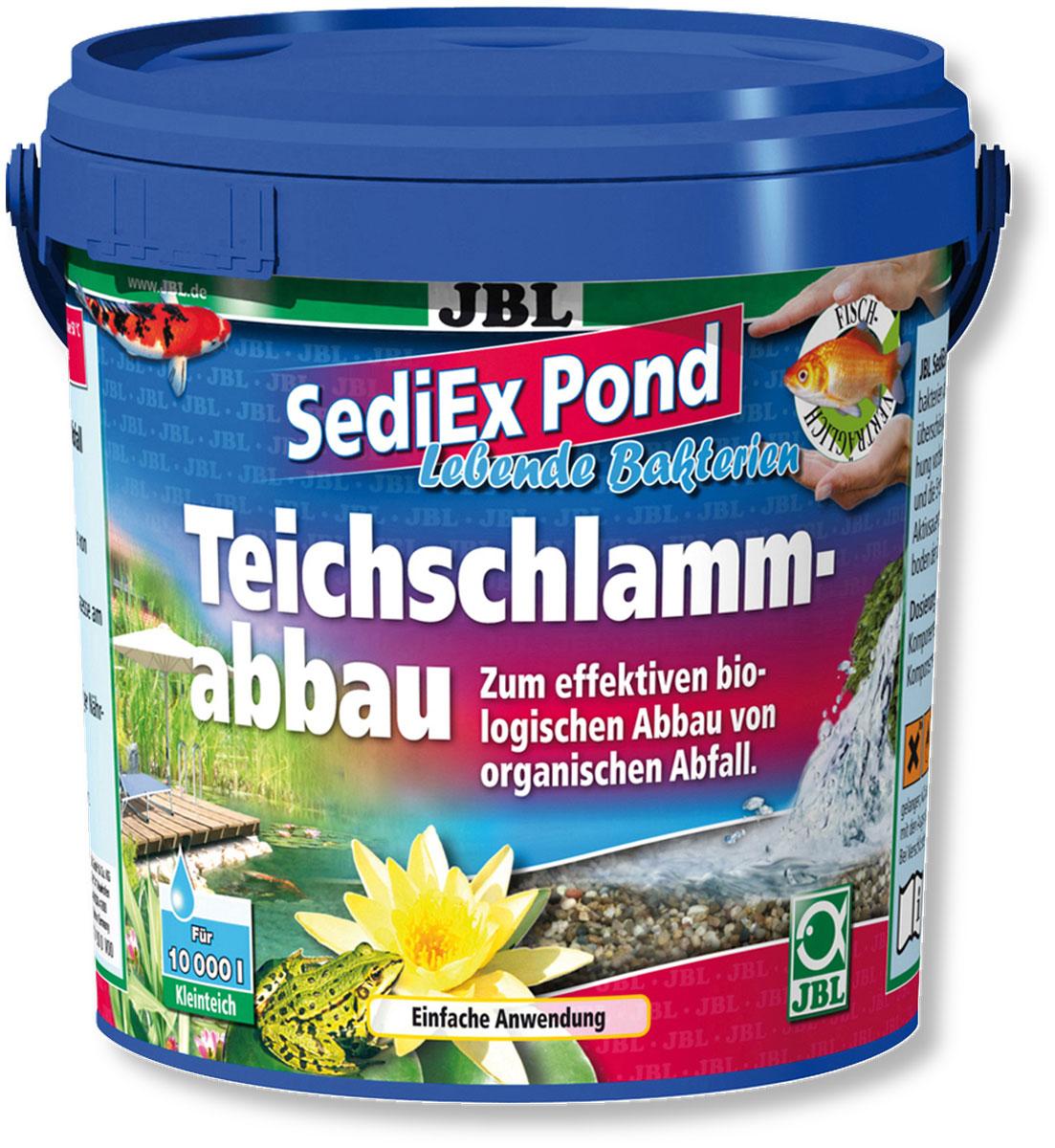 Средство для садовых прудов JBL SediEx Pond, для эффективного биологического удаления ила, 1 кг на 10000 л водыJBL2733100Двухкомпонентное средство JBL SediEx Pond с живыми бактериями и кислородом применяется для эффективного, биологического удаления ила из садовых прудов. Такое средство делает прудовую воду чистой, предотвращая процессы гниения на дне водоема, помогает избежать гибели рыб в пруду, а также уменьшает рост водорослей, поглощая избыток питательных веществ. Способ применения: компонент 1: 30-50 г на 1000 л прудовой воды; компонент 2: 50 г на 1000 л прудовой воды.