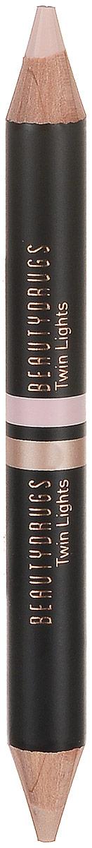 Beautydrugs Twin Lights Двойной карандаш-хайлайтер 02, 2,98 гр1301210Двойной хайлайтер для бровей Beautydrugs Twin Lights служит финальным штрихом в макияже, выделяет, подчеркивает изгиб брови, делая ее визуально более четкой, а образ - завершенным. Каждый карандаш имеет два оттенка: матовый и с деликатным шиммером, они используются в зависимости от желаемого эффекта. Матовый хайлатер используется над бровью, чтобы очертить и высветлить эту область. Шиммерный - для областью под бровью, для придания более законченного и гламурного образа. Beautydrugs Twin Lights может использоваться и для расставления световых акцентов на всем лице: в уголках глаз, на спинке носа, на галочке над верхней губой в качестве консилера.