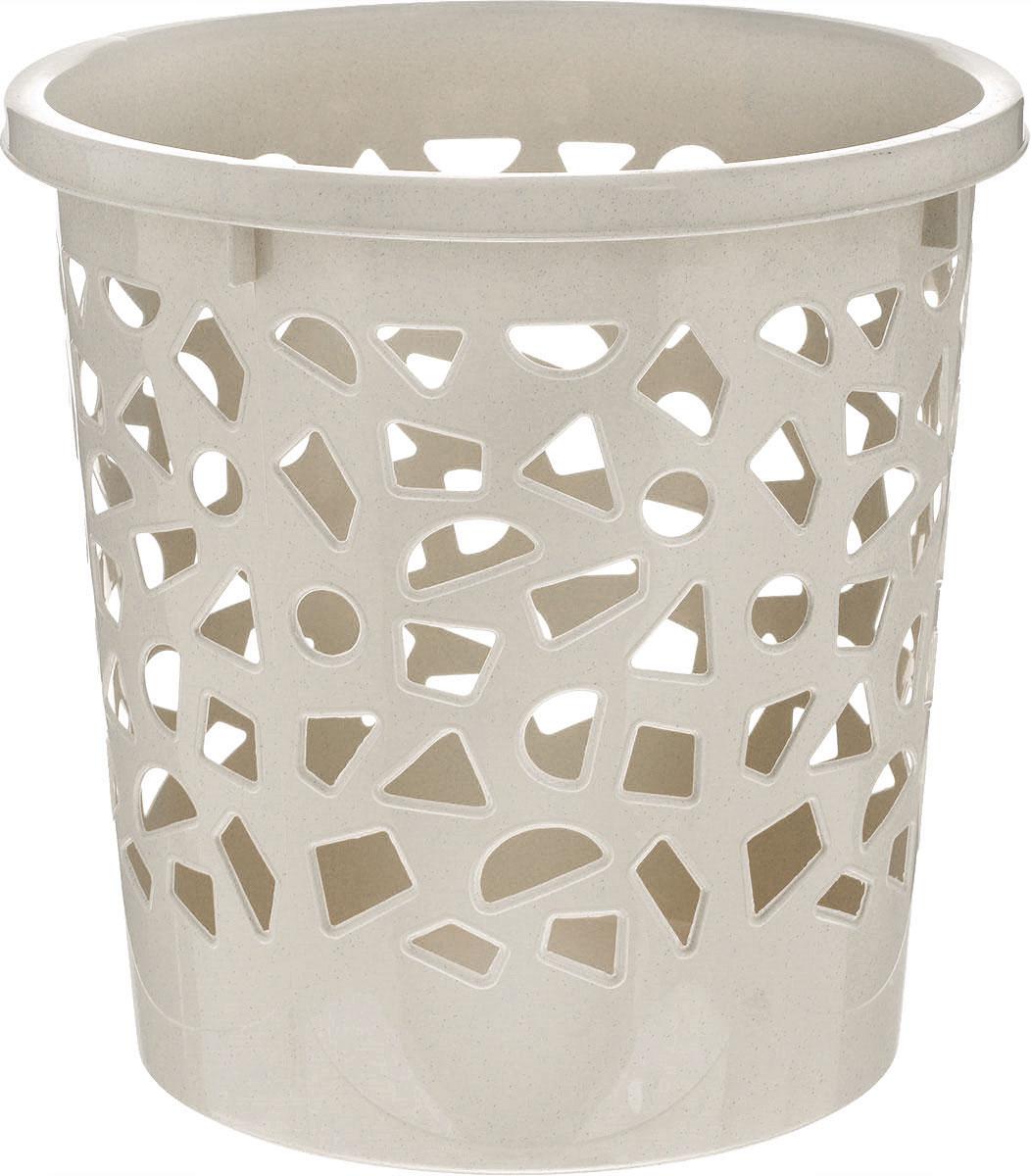 Корзина для мусора Бытпласт, цвет: серо-бежевый, высота 26 смС12431Корзина для мусора Бытпласт, изготовлена из высококачественного пластика. Вы можете использовать ее для выбрасывания разных пищевых и не пищевых отходов. Корзина имеет отверстия на стенках и сплошное дно. Корзина для мусора поможет содержать ваше рабочее место в порядке. Диаметр (по верхнему краю): 26 см. Высота: 26 см.