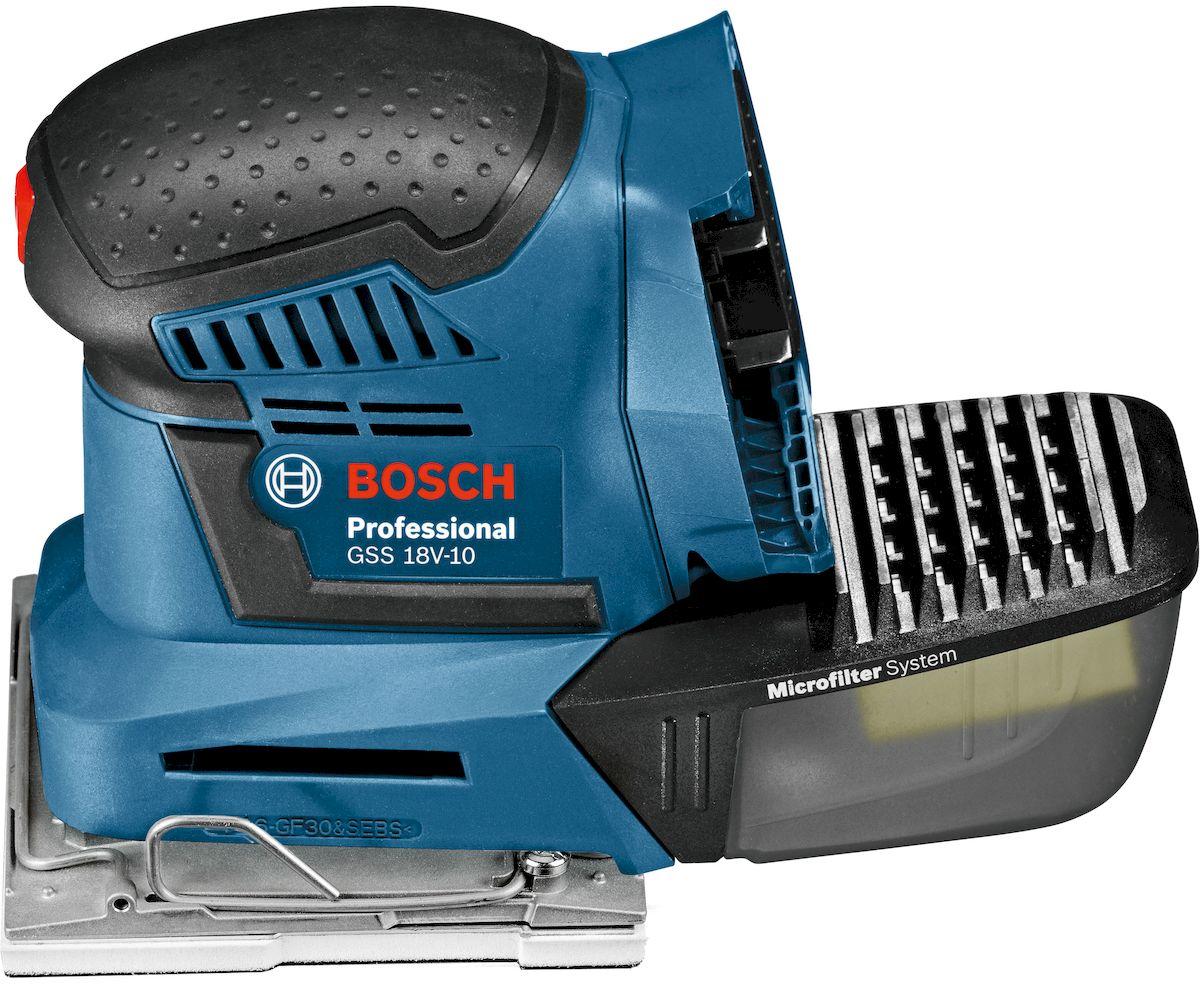 Виброшлифмашина Bosch GSS 18V-10, без аккумулятора и ЗУ. 06019D0200