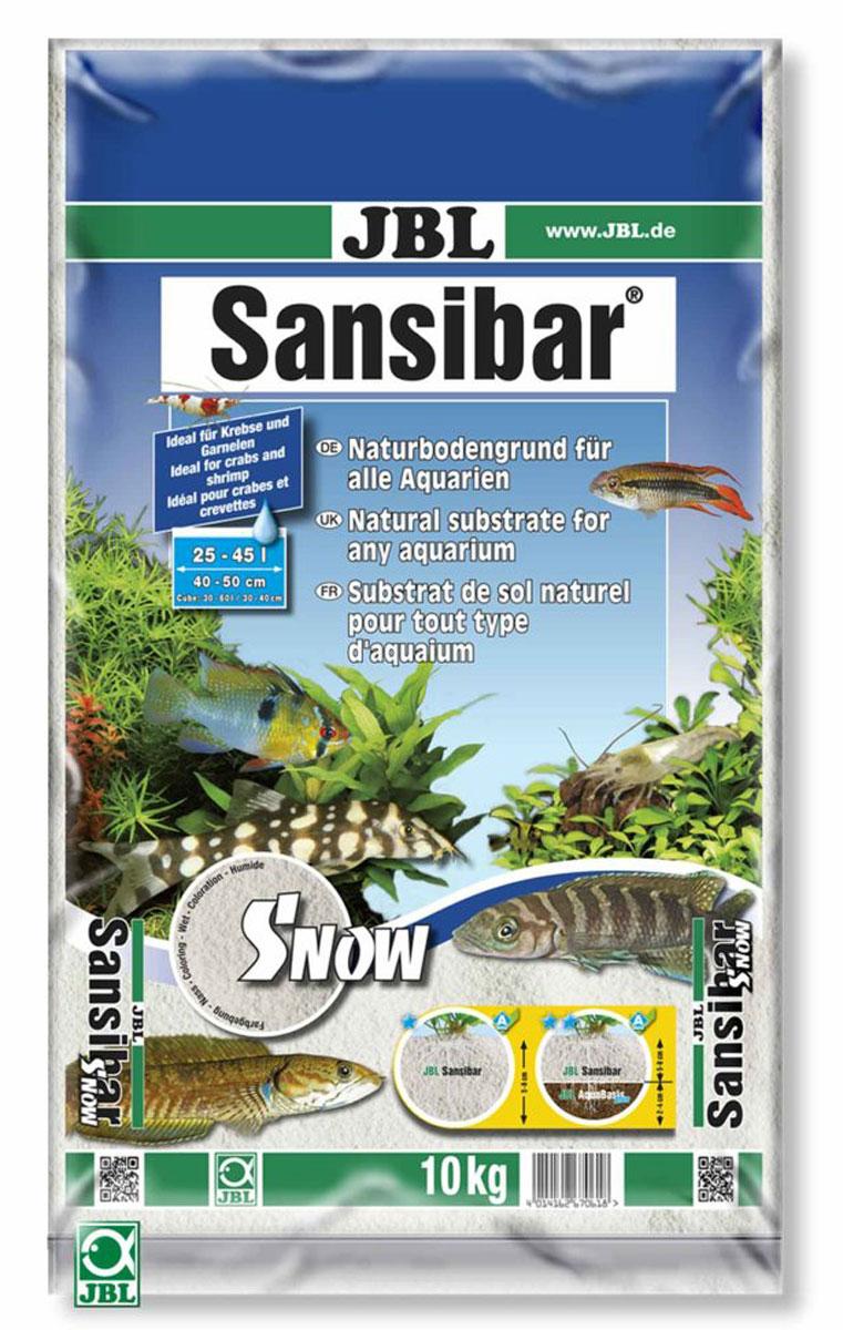 Декоративный мелкий грунт для аквариума JBL Sansibar, снежно-белый, 10 кгJBL6706100JBL Sansibar SNOW - Декоративный мелкий грунт для аквариума, снежно-белый, 10 кг.