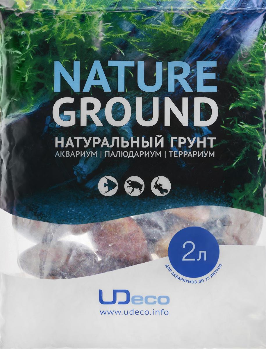Грунт для аквариума UDeco Бордовая галька, натуральный, 30-50 мм, 2 лUDC430542Натуральный грунт UDeco Бордовая галька предназначен специально для оформления аквариумов, палюдариумов и террариумов. Изделие готово к применению. Грунт UDeco порадует начинающих любителей природы и самых придирчивых дизайнеров, стремящихся к созданию нового, оригинального. Такая декорация придутся по вкусу и обитателям аквариумов и террариумов, которые ещё больше приблизятся к природной среде обитания. Необходимое количество грунта рассчитывается по формуле: длина аквариума х ширина аквариума х толщина слоя грунта. Предназначен для аквариумов от 25 литров. Фракция: 30-50 мм. Объем: 2 л.