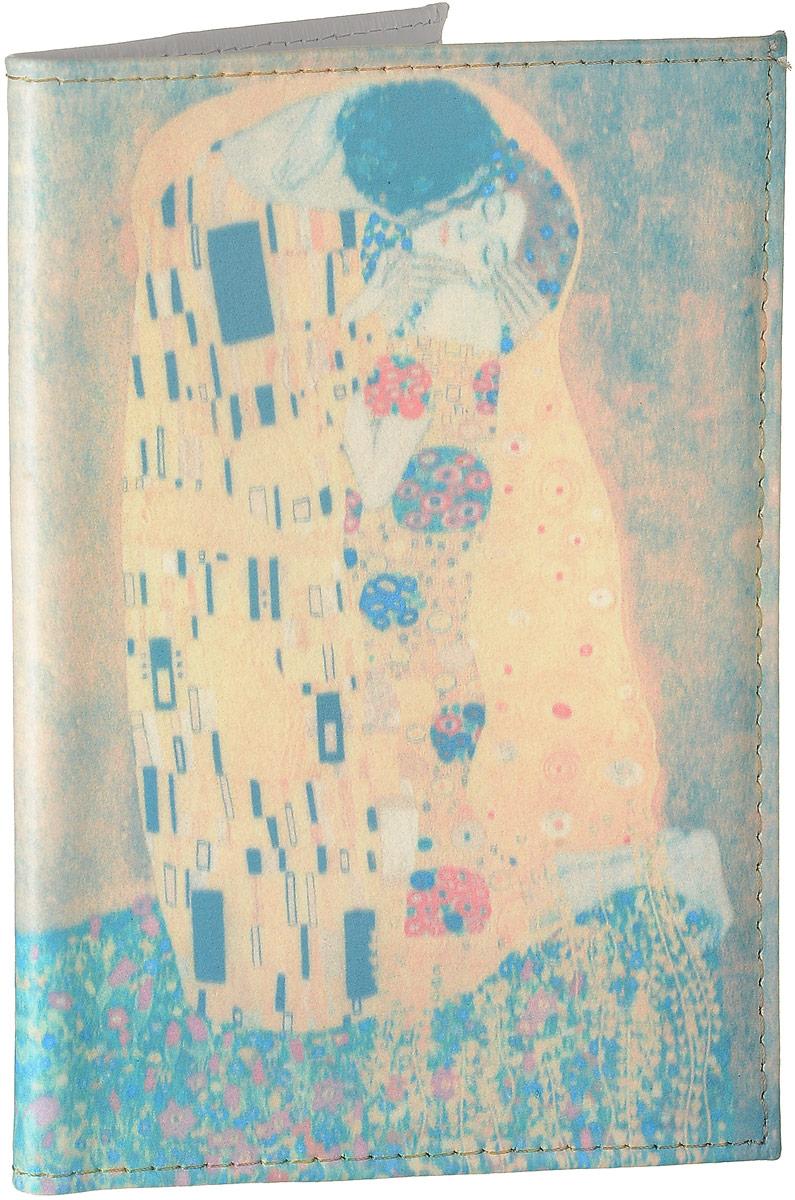 Обложка для автодокументов Mitya Veselkov Поцелуй Климта, цвет: голубой, бежевый, Арт. AUTO260AUTO260Стильная обложка для автодокументов Mitya Veselkov Поцелуй Климта изготовлена из натуральной кожи и оформлена интересным принтом. Внутри изделия расположены два прорезных кармана для пластиковых карт, два открытых кармана, съемный блок для документов, включающий в себя шесть прозрачных файлов. Обложка для автодокументов поможет сохранить внешний вид ваших документов и защитить их от повреждений, а также станет стильным аксессуаром.