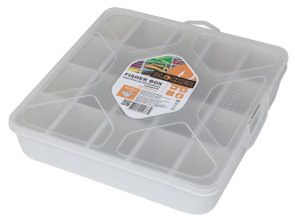 Коробка рыболовная Blocker, 20 х 20 х 4,5 смBR3777ПРМТКоробка Blocker необходима для хранения принадлежностей для рыбалки. Оптимальное и безопасное решения для организации и переноски крючков, грузил и прочего. Благодаря съемным перегородка, можно регулировать количество и размер ячеек. Прозрачный корпус и крышка позволяют увидеть содержимое, не открывая коробку. Размер изделия: 20 х 20 х 4,5 см.