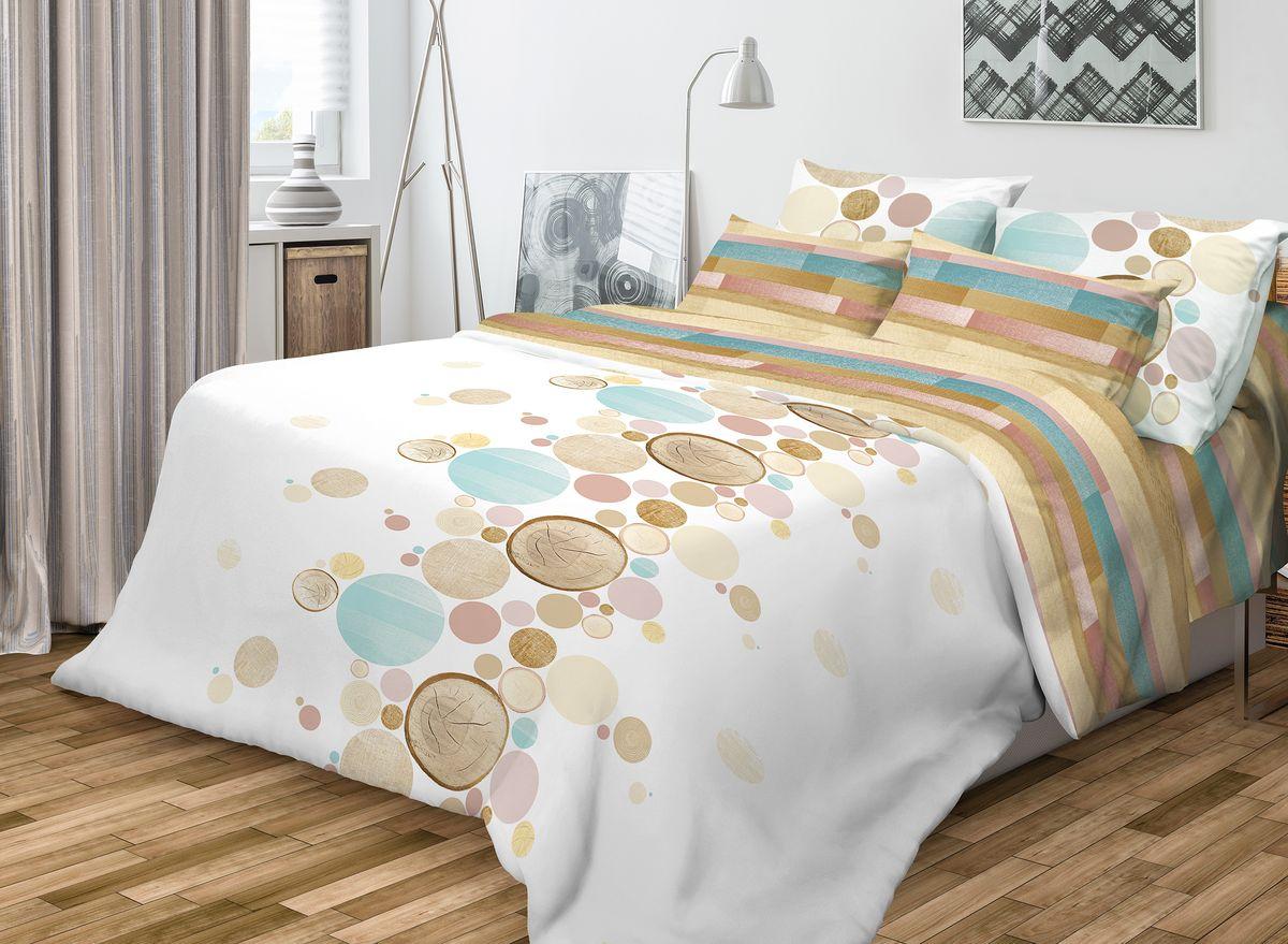 Комплект белья Волшебная ночь Wood, 1,5-спальный, наволочки 50x70, цвет: белый, мультиколор701952Роскошный комплект постельного белья Волшебная ночь Wood выполнен из натурального ранфорса (100% хлопка) и украшен оригинальным рисунком. Комплект состоит из пододеяльника, простыни и двух наволочек. Ранфорс - это новая современная гипоаллергенная ткань из натуральных хлопковых волокон, которая прекрасно впитывает влагу, очень проста в уходе, а за счет высокой прочности способна выдерживать большое количество стирок. Высочайшее качество материала гарантирует безопасность. Доверьте заботу о качестве вашего сна высококачественному натуральному материалу.