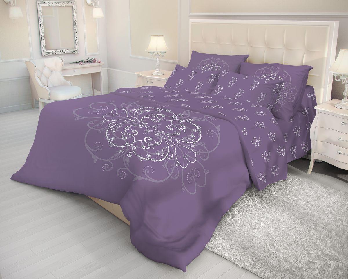 Комплект белья Волшебная ночь Royal Mark, евро, наволочки 50x70, цвет: фиолетовый. 702097S03301004Роскошный комплект постельного белья Волшебная ночь Royal Mark выполнен из натурального ранфорса (100% хлопка) и оформлен оригинальным рисунком. Комплект состоит из пододеяльника, простыни и двух наволочек. Ранфорс - это новая современная гипоаллергенная ткань из натуральных хлопковых волокон, которая прекрасно впитывает влагу, очень проста в уходе, а за счет высокой прочности способна выдерживать большое количество стирок. Высочайшее качество материала гарантирует безопасность.