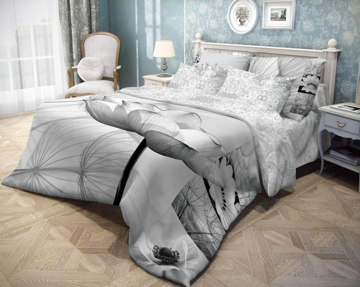 Комплект белья Волшебная ночь Poppy, евро, наволочки 70x70, цвет: серый702138Роскошный комплект постельного белья Волшебная ночь Poppy выполнен из натурального ранфорса (100% хлопка) и украшен оригинальным рисунком. Комплект состоит из пододеяльника, простыни и двух наволочек. Ранфорс - это новая современная гипоаллергенная ткань из натуральных хлопковых волокон, которая прекрасно впитывает влагу, очень проста в уходе, а за счет высокой прочности способна выдерживать большое количество стирок. Высочайшее качество материала гарантирует безопасность. Доверьте заботу о качестве вашего сна высококачественному натуральному материалу.