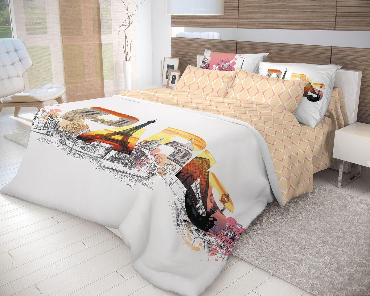 Комплект белья Волшебная ночь Splash, 2-спальный, наволочки 70x70, цвет: белый, бежевыйS03301004Роскошный комплект постельного белья Волшебная ночь Splash выполнен из натурального ранфорса (100% хлопка) и украшен оригинальным рисунком. Комплект состоит из пододеяльника, простыни и двух наволочек. Ранфорс - это новая современная гипоаллергенная ткань из натуральных хлопковых волокон, которая прекрасно впитывает влагу, очень проста в уходе, а за счет высокой прочности способна выдерживать большое количество стирок. Высочайшее качество материала гарантирует безопасность.Доверьте заботу о качестве вашего сна высококачественному натуральному материалу.