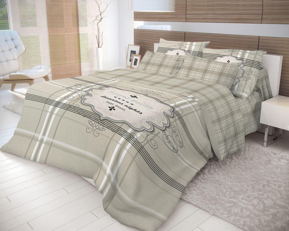 Комплект белья Волшебная ночь Royal Suite, евро, наволочки 50x70, цвет: темно-серый. 702213S03301004Роскошный комплект постельного белья Волшебная ночь Royal Suite выполнен из натурального ранфорса (100% хлопка) и оформлен оригинальным рисунком. Комплект состоит из пододеяльника, простыни и двух наволочек. Ранфорс - это новая современная гипоаллергенная ткань из натуральных хлопковых волокон, которая прекрасно впитывает влагу, очень проста в уходе, а за счет высокой прочности способна выдерживать большое количество стирок. Высочайшее качество материала гарантирует безопасность.