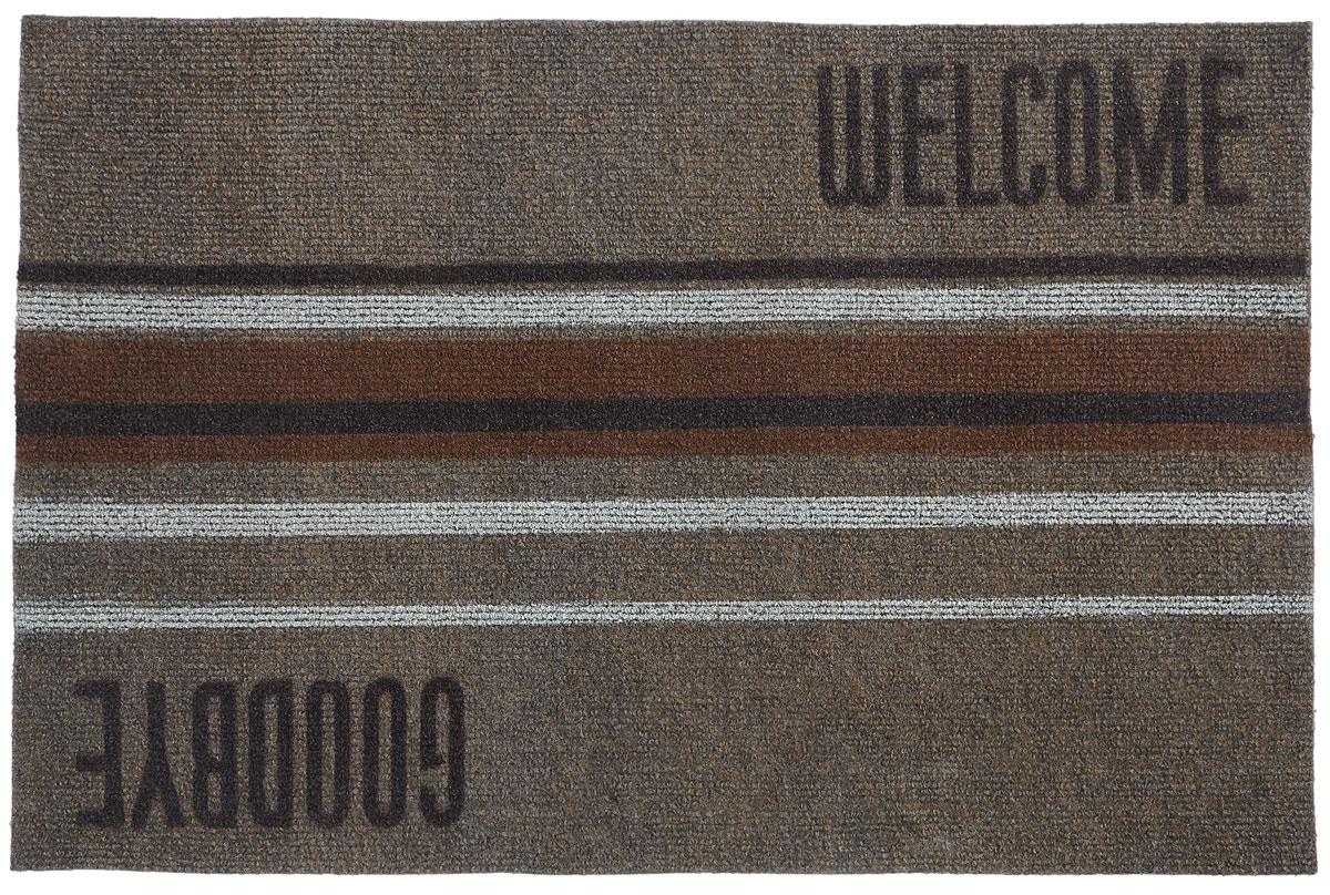 Коврик придверный EFCO Нью Эден, цвет: коричневый, белый, бежевый, 68 х 45 смUP210DFОригинальный придверный коврик EFCO Нью Эден надежно защитит помещение от уличной пыли и грязи. Изделие выполнено из 100% полипропилена, основа - суперлатекс. Такой коврик сохранит привлекательный внешний вид на долгое время, а благодаря латексной основе, он легко чистится и моется.