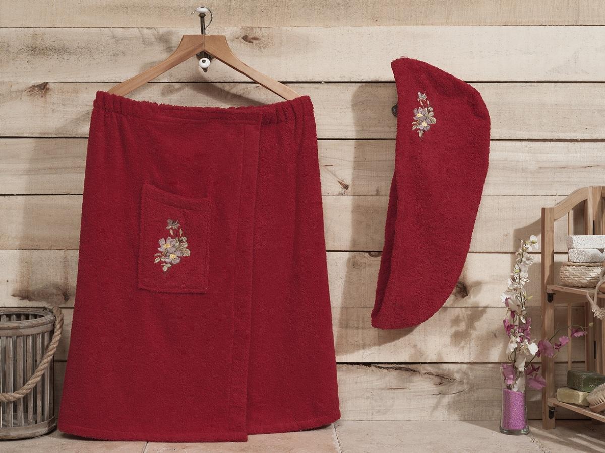 """Набор для бани и сауны Karna """"Nora"""", цвет: красный, 2 предмета 1941/CHAR006"""