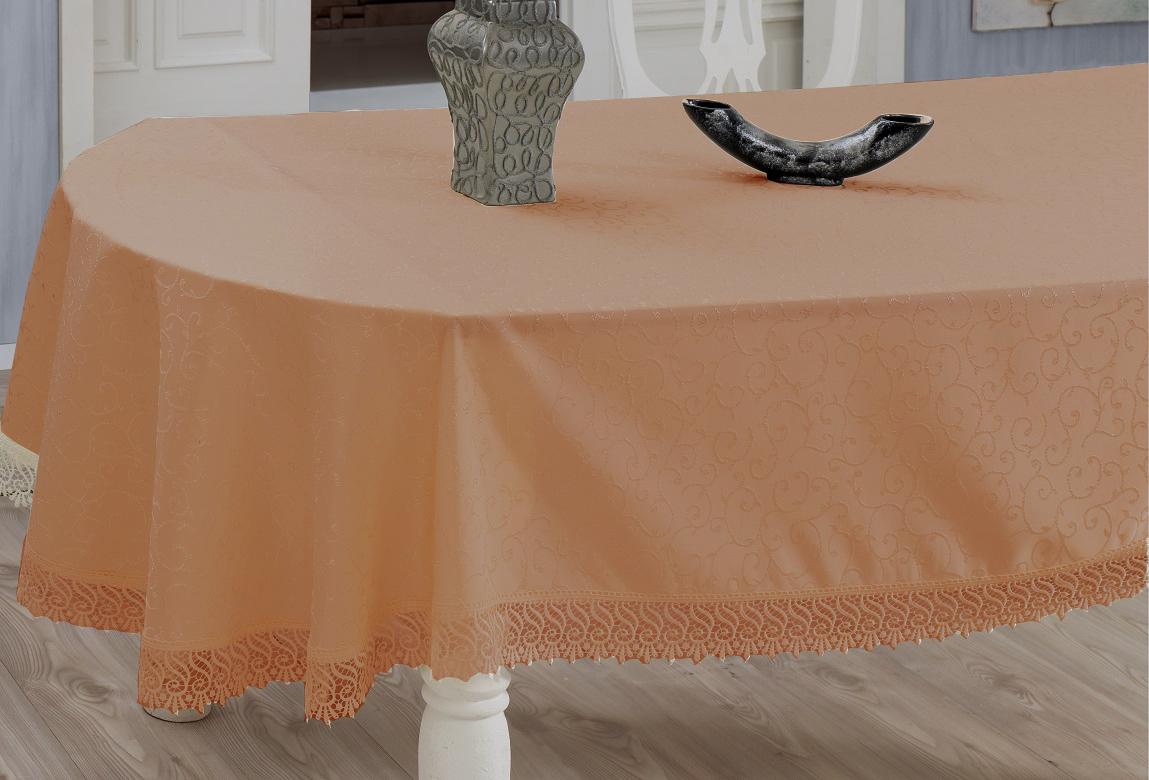 Скатерть Evdy Kdk, прямоугольная, цвет: оранжевый, 160 х 220 см867/1/CHAR003Прямоугольная скатерть Evdy Kdk выполнена из высококачественного полиэстера и оформлена изящным узором, края оснащены фестонами. Использование такой скатерти сделает застолье торжественным, поднимет настроение гостей и приятно удивит их вашим изысканным вкусом. Также вы можете использовать эту скатерть для повседневной трапезы, превратив каждый прием пищи в волшебный праздник и веселье. Это текстильное изделие станет изысканным украшением вашего дома!