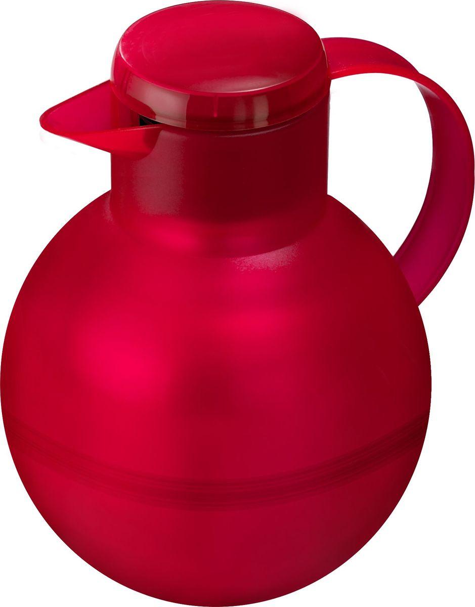 Термос-чайник Emsa Samba Tea, цвет: красный, 1 л509155Удобный термос-кофейник Emsa Samba Tea станет незаменимым аксессуаром в поездках, выездах на природу, дачу, рыбалку или пикник. Корпус кувшина выполнен из высококачественного пластика, а колба - из стекла. На крышке изделия имеется кнопка Quick Press , с помощью которой вы сможете легко открыть герметичный клапан, а удобные носик и ручка позволят аккуратно разлить содержимое по стаканам. Пробка легко разбирается и превосходно моется. Линейка термосов Emsa Samba Tea славится элегантным дизайном, разнообразием цветов, высококачественной вакуумной индийской стеклянной колбой с серебряным напылением, сохраняющей ваш напиток горячим до 12 часов и холодным до 24 часов. 100 % герметичность сохранит аромат вашего напитка и не допустит в него посторонние запахи.