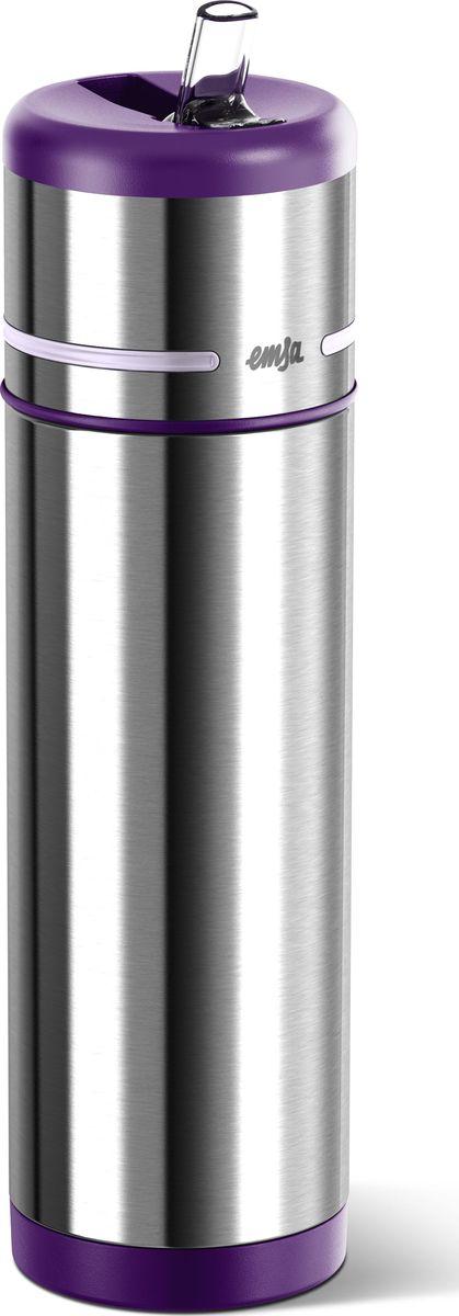 Термос-фляга Emsa Mobility, цвет: фиолетовый, 0,5 л509230Вакуумный термос-фляга Emsa Mobility имеет современный дизайн и 100% герметичен. Имеет двустенную вакуумную колбу из нержавеющей стали и встроенный дозатор.