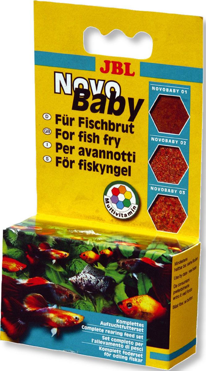 JBL NovoBaby 3x10мл Комплект кормов для мальков, 3х10 мл (18 г)JBL3025400JBL NovoBaby 3x10мл - Комплект кормов для мальков, 3х10 мл. (18 г.)