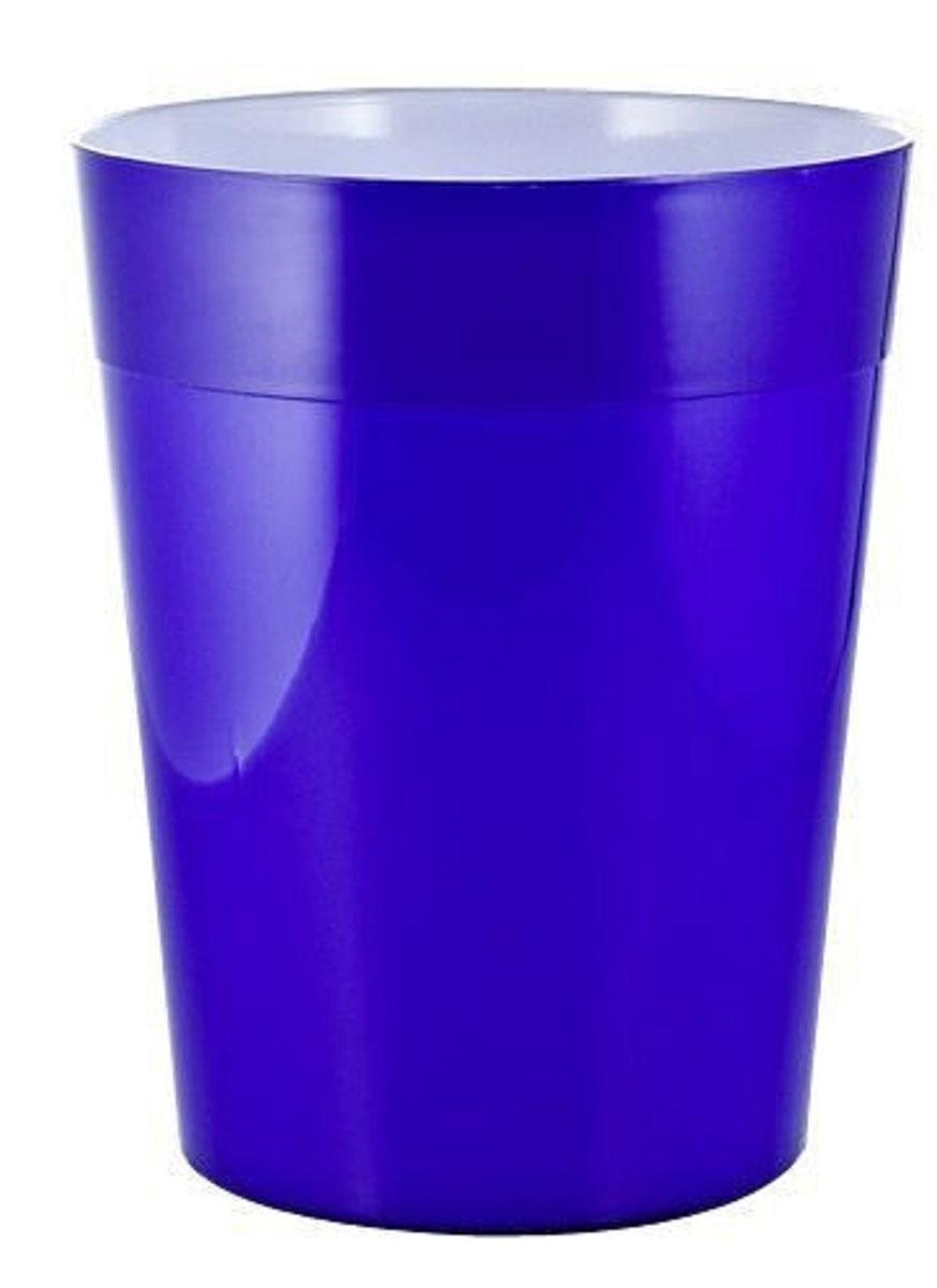 Ведро мусорное Ridder Neon, цвет: синий, 5 л22020603Высококачественные немецкие аксессуары для ванных комнат. Данная серия изготавливается из акрилового стекла. Объем: 5 л.