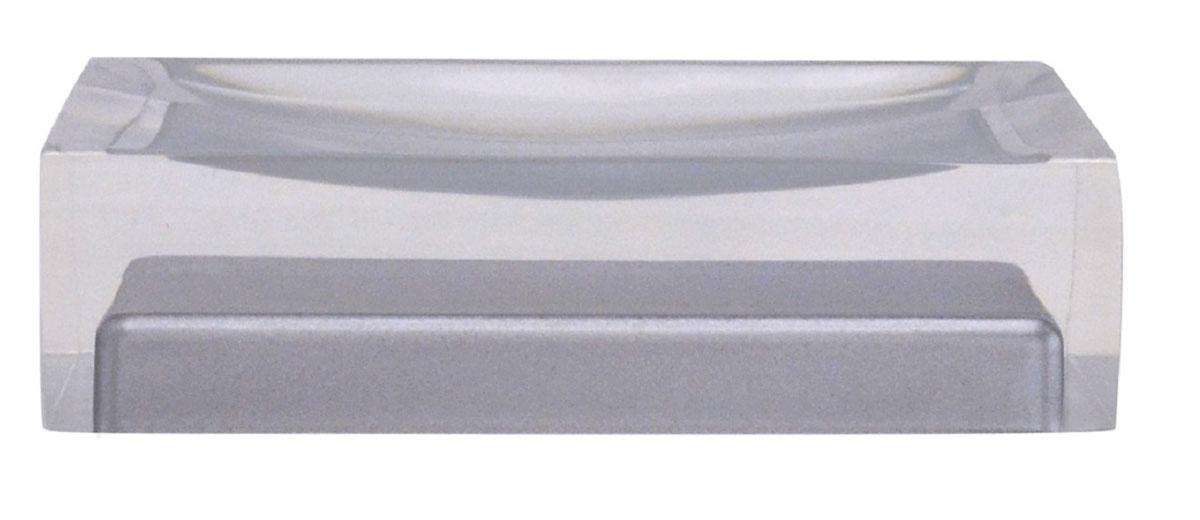Мыльница Ridder Colours, цвет: серый22280307Изделия данной серии устойчивы к ультрафиолету, т.к. изготавливаются из полирезины. Экологичная полирезина - это твердый многокомпонентный материал на основе синтетической смолы, с добавлением каменной крошки и красящих пигментов.