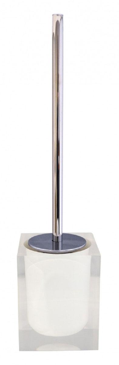 Ершик для унитаза Ridder Colours, с подставкой, цвет: белый106-029Ершик для унитаза Ridder Colours выполнен из нержавеющей стали и оснащен жесткимворсом. Подставка, выполненная из экологичной полирезины, с устойчивым основанием непозволяет ершику опрокинуться. Ершик отличночистит поверхность, а грязь с него легко смываетсяводой.Стильный дизайн изделия притягивает взгляд ипрекрасно подойдет к интерьеру туалетнойкомнаты.