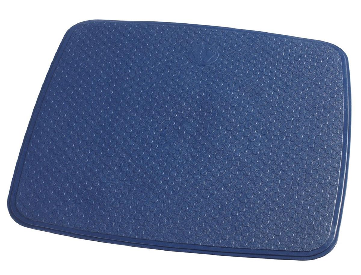 Коврик для ванной Ridder Capri, противоскользящий, на присосках, цвет: синий, 54 х 54 см66243Коврик для ванной Ridder Capri, изготовленный из каучука с защитой от плесени и грибка, создает комфортное антискользящее покрытие в ванне. Крепится к поверхности при помощи присосок. Изделие удобно в использовании и легко моется теплой водой.
