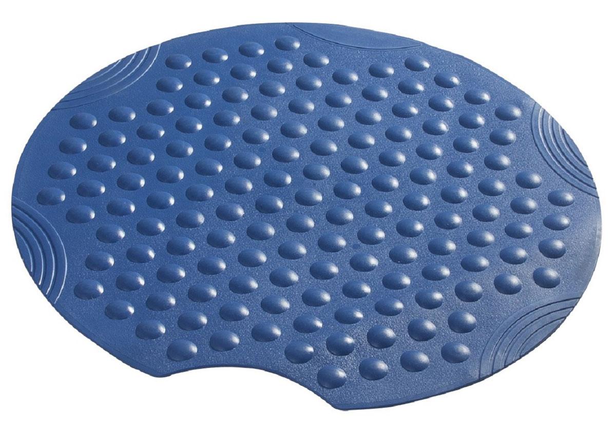 Коврик для ванной Ridder Tecno, противоскользящий, на присосках, цвет: синий, диаметр 55 см68253Высококачественные немецкие коврики Tecno созданы для вашего удобства. Состав и свойства противоскользящих ковриков: синтетический каучук с защитой от плесени и грибка, не содержит ПВХ. Имеются присоски для крепления. Безопасность изделия соответствует стандартам LGA (Германия).