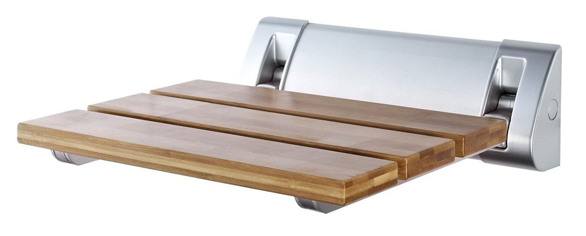 Сиденье в ванную Ridder, откидное, цвет: бамбук, матовый хромА0020200Серия Assistent создана для комфорта и безопасности/ Высококачественное немецкое сиденье для ванны разработано и запатентовано компанией Ridder. Данное изделие имеет откидной механизм. Посадочная часть состоит из рифленых реек, не впитывающих влагу. Длина сидения - 320 мм. Глубина сидения - 230 мм. Максимальная нагрузка - 150 кг. Состав: каркас - алюминий, сиденье - бамбук. В комплект входят саморезы, дюбели и инструкция.