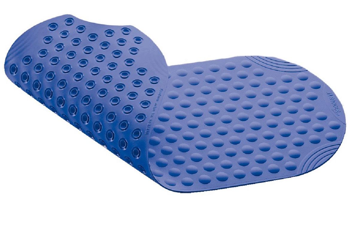 Коврик для ванной Ridder Tecno+, противоскользящий, на присосках, цвет: синий, 38 х 89 смА6800133Высококачественные немецкие коврики Tecno+ созданы для вашего удобства. Состав и свойства противоскользящих ковриков: синтетический каучук с защитой от плесени и грибка, не содержит ПВХ. Имеются присоски для крепления. Безопасность изделия соответствует стандартам LGA (Германия).
