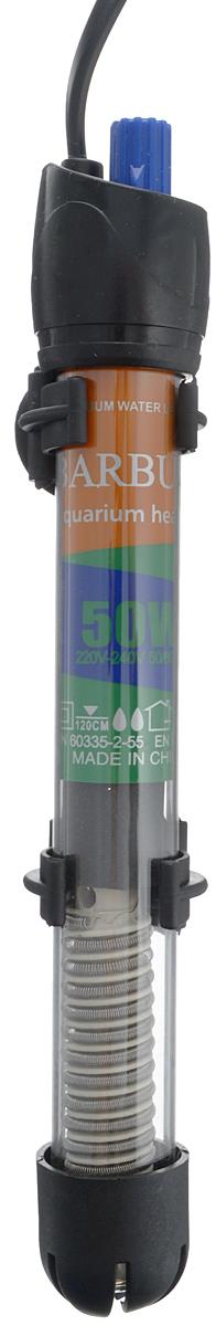 Нагреватель-терморегулятор Barbus HF-50W, 50 ВтHF50WНагреватель-терморегулятор Barbus HF-50W обеспечивает высокую точность поддержания заданной температуры. Полностью погружной. Ударопрочная кварцевая колба обеспечивает нагревателю долгий срок эксплуатации. Сверху имеется циферблат значения температуры. Крепится при помощи двух присосок. Мощность: 50 Вт. Температура: 12-34°С. Рекомендуемый объем аквариума: 40-60 л. Напряжение: 220-240В. Частота: 50/60 Гц. Длина нагревателя: 21,5 см.