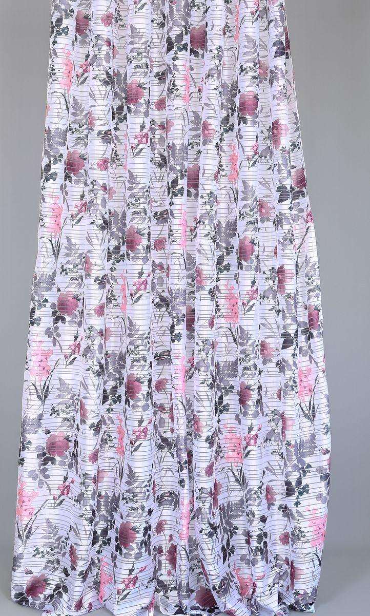Тюль Garden Pivoine, на ленте, высота 270 см83527_ЛЕНТАТюль Garden Pivoine изготовлен из 100% полиэстера. Оригинальная ткань привлечет к себе внимание и идеально оформит интерьер любого помещения. Полиэстер - вид ткани, состоящий из полиэфирных волокон. Ткани из полиэстера легкие, прочные и износостойкие. Такие изделия не требуют специального ухода, не пылятся и почти не мнутся. Крепление к карнизу осуществляется при помощи вшитой шторной ленты.