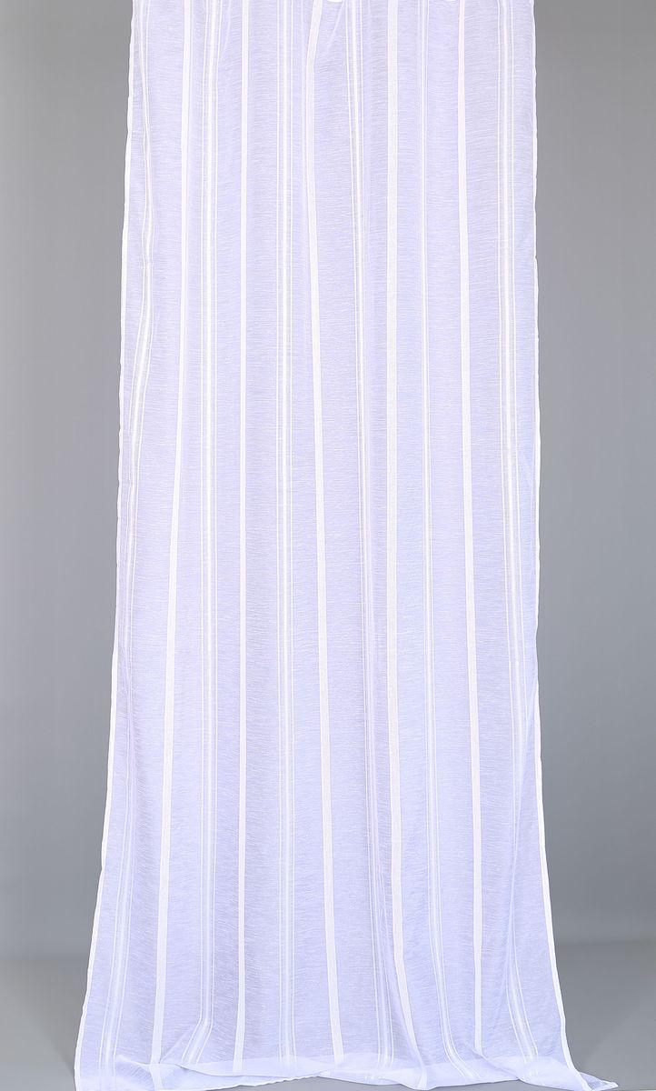 Тюль Garden, на ленте, цвет: белый, высота 280 см5082_ШТюль Garden изготовлен из 100% полиэстера. Воздушная ткань привлечет к себе внимание и идеально оформит интерьер любого помещения. Полиэстер - вид ткани, состоящий из полиэфирных волокон. Ткани из полиэстера легкие, прочные и износостойкие. Такие изделия не требуют специального ухода, не пылятся и почти не мнутся. Крепление к карнизу осуществляется при помощи вшитой шторной ленты.
