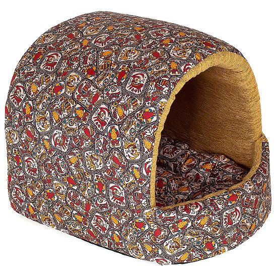 Домик для собак Happy Puppy Этнос, 37 х 37 х 40 смHP-160508Высокое качество, практичность, незаурядный дизайн и доступная цена – думаете, такое сочетание сложно отыскать? Тогда самое время познакомиться м маркой «Happy Puppy» - универсальное решение на любой сезон.