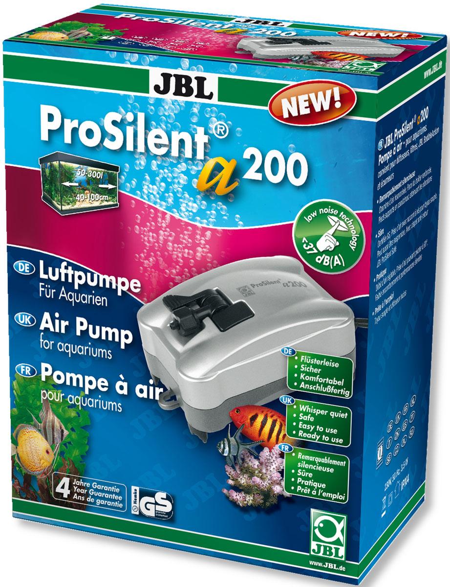 Компрессор JBL ProSilent, для аквариума 50-300 л, 200 л/ч0120710Компрессор JBL ProSilent предназначен для пресноводного и морского аквариума объемом 50-300 л. При производительности 200 л/ч и потреблении всего 3,4 Вт он мощный и надежный благодаря креплениям воздушного шланга. Пониженный уровень шума: звукопоглощающая воздушная камера, антивибрационные силиконовые ножки, усиленные стенки корпуса, регулируемый выход воздуха, крепление шланга поворачивается на 90°.Устройство оборудовано обратным клапаном для предотвращения обратного потока воды в насос. Ночью компрессор полезен для аквариума, потому что растения не производят кислород без света. В аквариумах с небольшим количеством растений насос обеспечивает адекватную циркуляцию воды. В аквариумах с плотной посадкой растений компрессор ночью подает кислород в аквариум, так как содержание кислорода значительно падает из-за большого количества растений. При заболеваниях компрессор повышает содержание кислорода в воде, что необходимо для многих лекарств. Просто установить: Подключите шланг к компрессору. Отрежьте шланг для подачи воздуха и установите обратный клапан. Обрежьте оставшийся шланг до нужной длины. Один конец соедините с обратным клапаном, а другой - с распылителем воздуха. Насос можно установить на сухой стене возле аквариума. Есть крючки для подвешивания. Отрегулируйте поток воздуха на выходе.