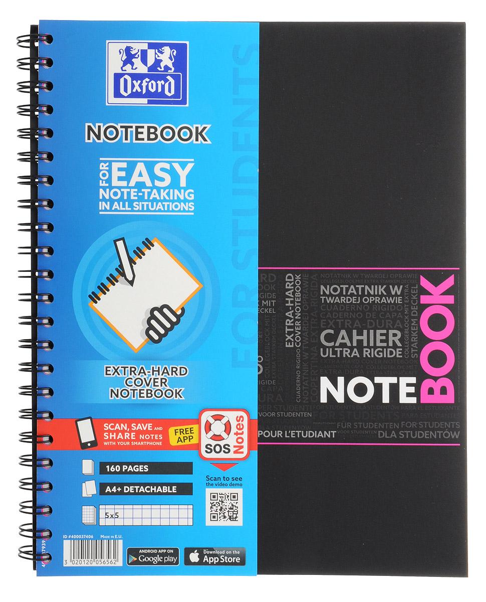 Oxford Тетрадь Sos Notes 80 листов в клетку цвет розовый72523WDКрасивая и практичная тетрадь Oxford Sos Notes отлично подойдет для ведения и хранения заметок. Тетрадь формата А4+ состоит из 80 белых листов с полями и с четкой яркой линовкой в клетку. Обложка тетради выполнена из жесткого ламинированного картона розового и черного цветов. Все ваши записи и заметки всегда будут в безопасности, так как листы крепятся на двойную металлическую спираль. Благодаря специальным меткам на каждой странице и бесплатному приложению SOS Notes для вашего телефона или планшета, вы сможете легко перенести ваши записи и зарисовки с бумажной страницы в смартфон или на компьютер.