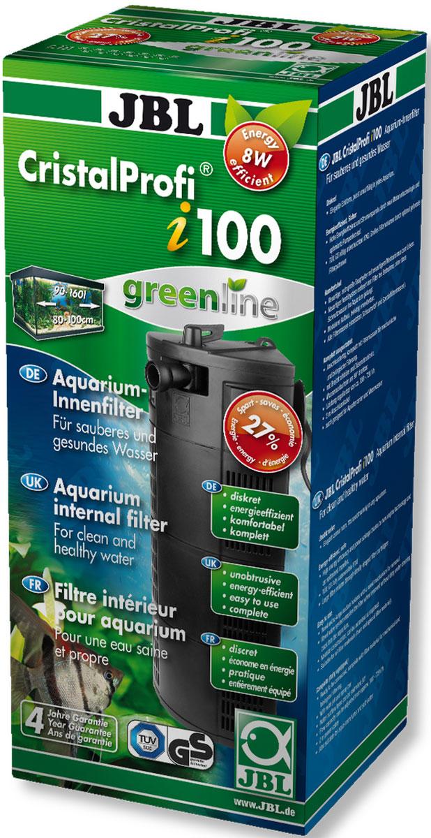 Фильтр для аквариума внутренний JBL CristalProfi i100 greenline, угловой, 90-160 л, 300-720 л/ч0120710Фильтр для аквариума внутренний JBL CristalProfi i100 greenline предназначен для механической и биологической фильтрации аквариумов 90-160 л (80-100 см). Остатки растений, корма и продукты обмена веществ ухудшают качество воды в аквариуме. Хорошее качество воды необходимо для укрепления здоровья рыб и растений в аквариуме. Этого можно достичь с помощью аквариумного фильтра. Фильтр забирает воду из аквариума и устраняет грязь и отходы из воды. Фильтр также предоставляет идеальную среду обитания для бактерий, разлагающих загрязнения. Фильтр имеет модульную конструкцию, его можно расширить, сопло поворачивается на 90°, присоска с механизмом для открепления, угловая конструкция. Фильтр полностью погружной, экономичный. Не требует технического обслуживания: постоянная циркуляция. Фильтр полностью оборудован и готов к подключению, снабжен фильтрующим материалом. Подключите рассекатель или флейту, поместите фильтр в аквариум, подключите питание. Подходит для любых фильтрующих материалов.
