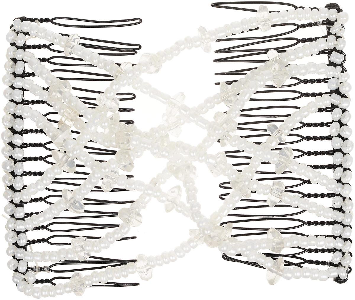 EZ-Combs Заколка Изи-Комбс, одинарная, цвет: белый. ЗИО_осколки