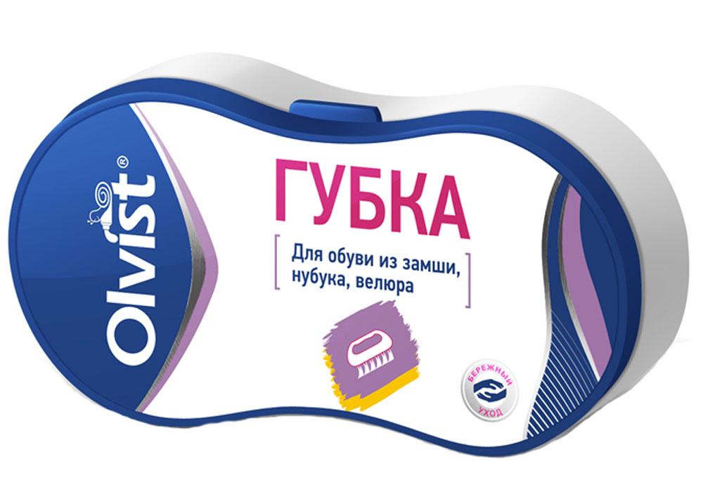 Губка для обуви Olvist, для замши, нубука, велюра. 9066E-8PS1004-01_черныйГубка для обуви Olvist эффективно удаляет загрязнения и возвращает бархатистость. Подходит для замши, нубука, велюра.