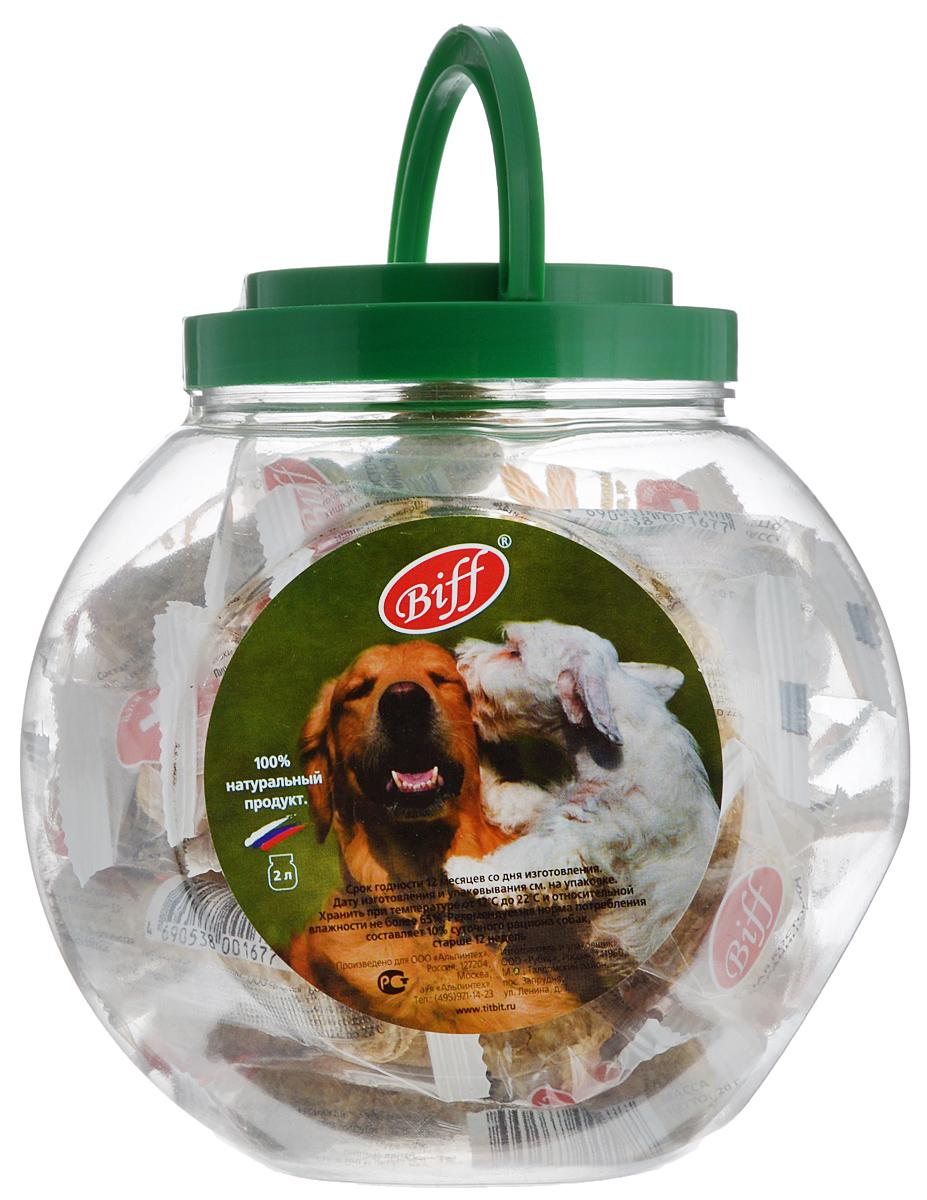 Лакомство для собак Titbit Biff, мясная косточка с бараниной, 2 л1714Лакомство для собак Titbit Biff - идеальное лакомство для собак с повышенной активностью. Баранина является источником полноценных белков, содержит минеральные вещества и витамины, (В1, В2, РР). Дрожжи - груполипропиленовый пакета одноклеточных грибов различных классов. Они содержат высококачественный белок и углеводы, а также витамины груполипропиленовый пакеты В и способствуют повышению эффективности пищеварения, так как служат прекрасной питательной средой для развития нормальной желудочной микрофлоры. Состав: кожа говяжья - 35%, мясо баранье - 15%, кукуруза - 13%, отруби - 12%, желудок говяжий - 9%, мясо-костная мука - 7%, кишки говяжьи - 6%, пивные дрожжи - 3%. Товар сертифицирован.