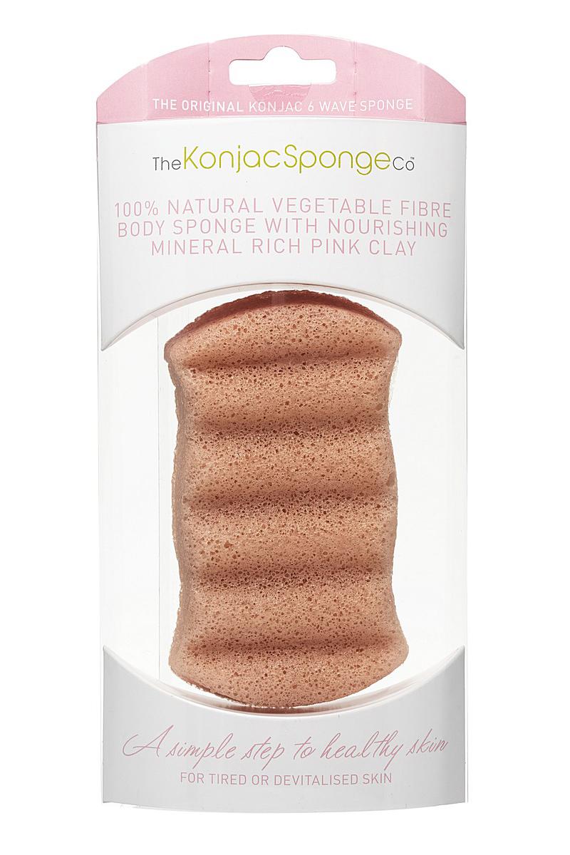 The Konjac Sponge Co Спонж для мытья тела Premium Six Wave Body Puff with French Pink Clay507-90Полностью натуральный спонж из растительной клетчатки для мытья тела (с добавлением французской розовой глины для ухода за чувствительной кожей). Не содержит химикатов, красителей, аллергенов. На 100% биоразлагаемый. Используется во влажном состоянии. Длина – ок. 13,5 см (без учета упаковки).