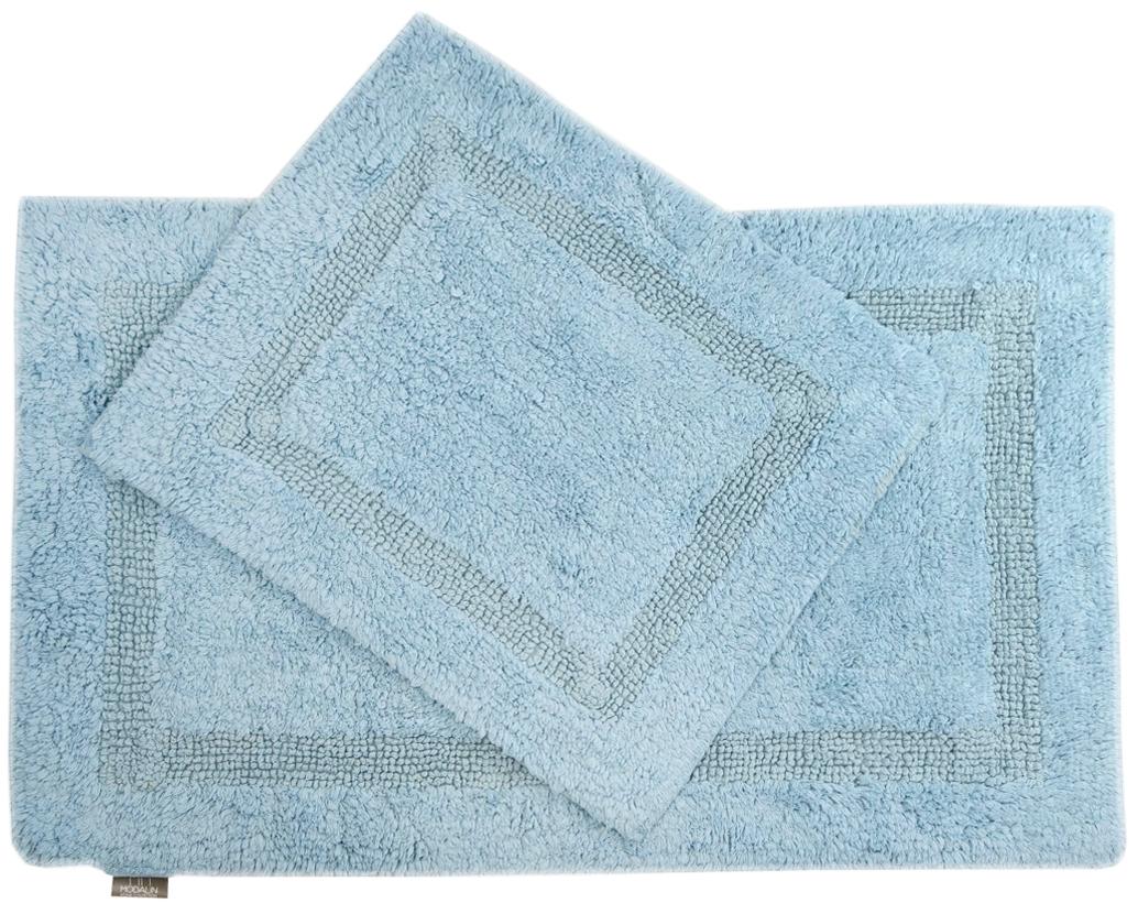 Набор ковриков для ванной Modalin Karla, цвет: голубой, 2 шт5027/CHAR003Набор Modalin Karla, выполненный из высококачественного хлопка, состоит из двух ковриков для ванной комнаты. Изделия добавят тепло и уют, а также внесут неповторимый колорит в интерьер ванной комнаты. Высокая износостойкость ковриков и стойкость цвета позволит вам наслаждаться покупкой долгие годы. Размер большего коврика: 60 х 100 см. Размер малого коврика: 60 х 50 см.