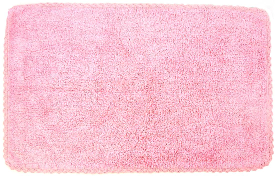 Коврик для ванной Modalin Hacri, цвет: грязно-розовый, 50 х 80 см96515412Коврик для ванной Modalin Hacri выполнен из высококачественного хлопка. Изделие долго прослужит в вашем доме, добавляя тепло и уют, а также внесет неповторимый колорит в интерьер ванной комнаты. Кромка выполнена под кружево.