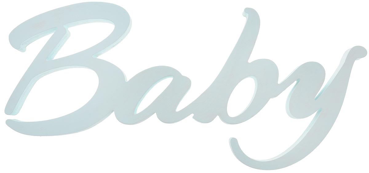 Табличка декоративная Magellanno Baby, цвет: бирюзовый, 48 х 21 смDEC013TДекоративная табличка Magellanno Baby, выполненная из фанеры с эффектом старения, идеально подойдет к интерьерам в стиле лофт, прованс, кантри, тем самым украсив детскую комнату. А также табличка Оранжевый Слоник Baby способна дополнить вашу фотосессию с малышом и придать ей оригинальности и смысла. Изделие ручной работы. Размер таблички: 48 х 21 см. Толщина таблички: 1,8 см.