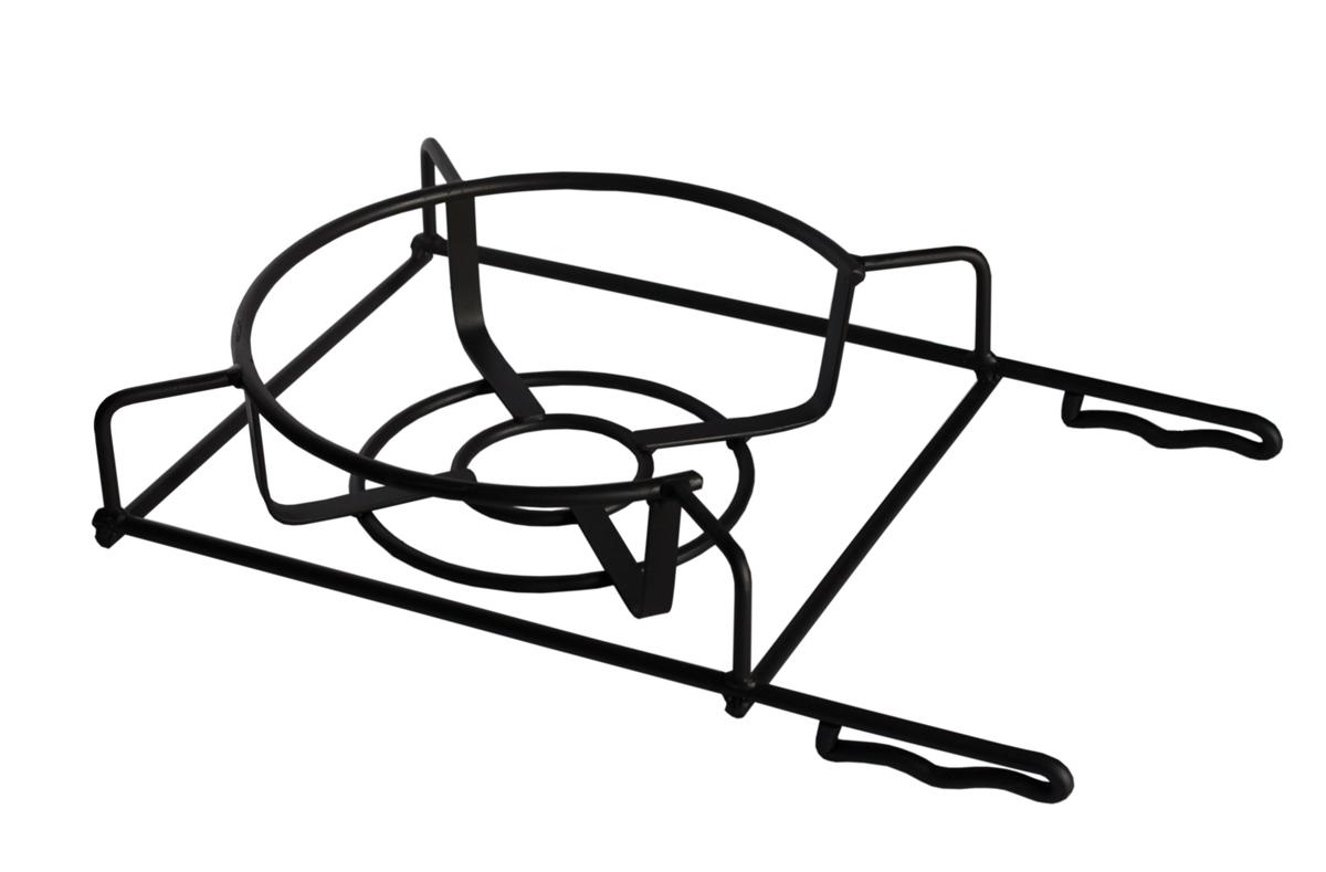 Подставка под казан Grillkoff166Подставка под казан Универсальная кованая подставка под казан позволит Вам приготовить блюда на мангале, также кастрюле или сковороде.