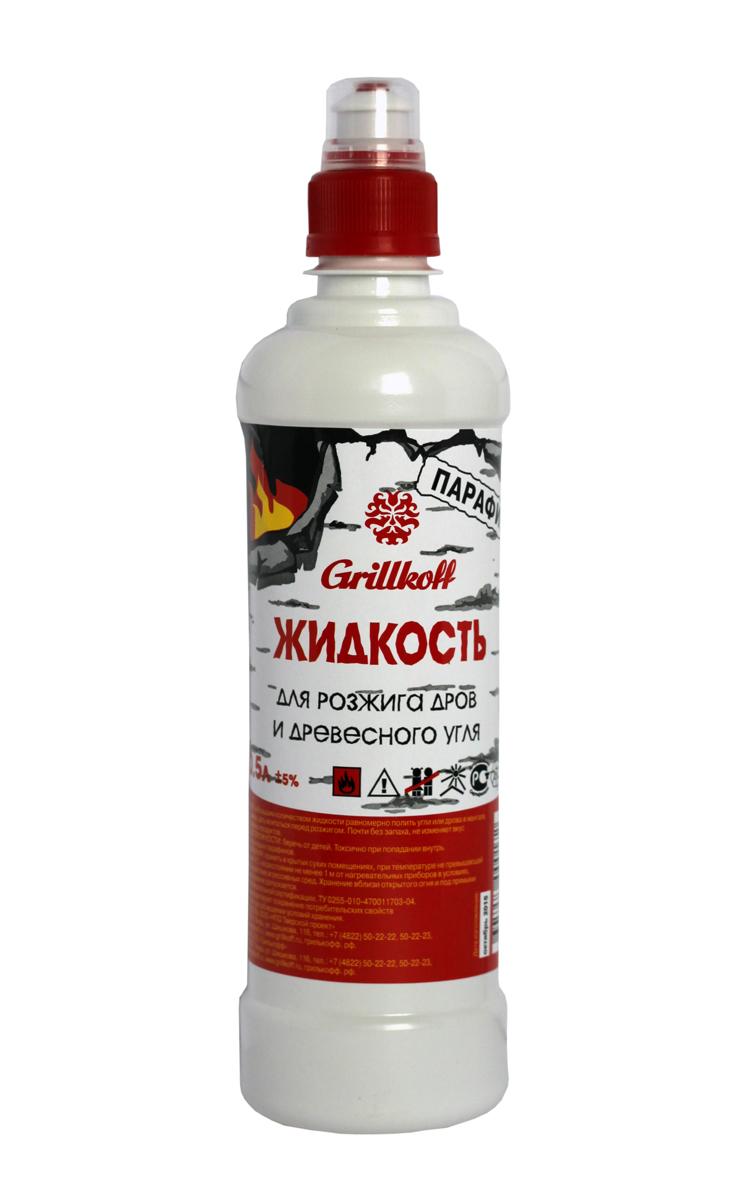 Жидкость для розжига дров и древесного угля Grillkoff Парафин, 500 мл17Жидкость для розжига дров и древесного угля, 0.5 л Спокойное загорание и равномерное горение парафина обеспечивает безопасное применение жидкости для розжига. Жидкость для розжига на основе жидких парафинов не токсична, не ядовита, не канцерогенна, не имеет резкой вспышки при зажигании в отличие от жидкостей для розжига на основе смесей углеводородов, не меняет вкус приготавливаемых продуктов.