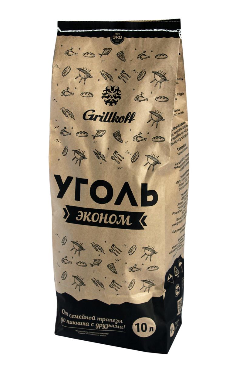 Уголь древесный для гриля Grillkoff Эконом, 10 л208Уголь древесный для гриля Эконом, пакет 10л Древесный уголь предназначен для быстрого и качественного приготовления разнообразных блюд в мангалах и гриля. Преимущество: Древесный уголь не дает пламени, обладает высокой теплоотдачей, не выделяет канцерогенных веществ. Любые идеи для любого случая: от семейной трапезы до пикника с друзьями, любые блюда на вкус: грили из мяса, рыбы, птицы, изысканные вегетарианские блюда и овощи Вы приготовите за считанные минуты с высоким гастрономическим эффектом.