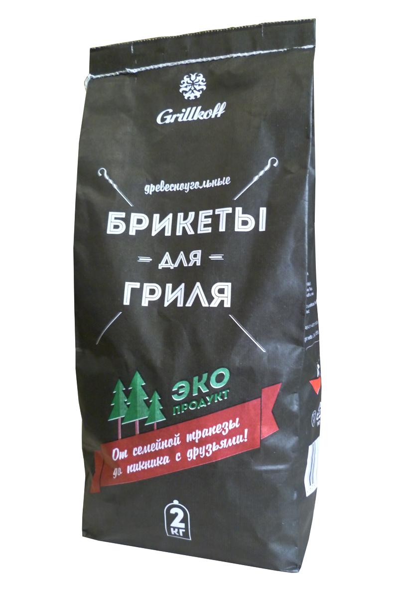 Брикеты древесноугольные Grillkoff, 2 кг4Брикеты древесноугольные 2кг. Древесноугольные брикеты предназначены для быстрого и качественного приготовления разнообразных блюд в мангалах и гриля. Преимущество: не дает пламени, обладает высокой теплоотдачей, не выделяет канцерогенных веществ. Любые идеи для любого случая: от семейной трапезы до пикника с друзьями, любые блюда на вкус: грили из мяса, рыбы, птицы, изысканные вегетарианские блюда и овощи Вы приготовите за считанные минуты с высоким гастрономическим эффектом.